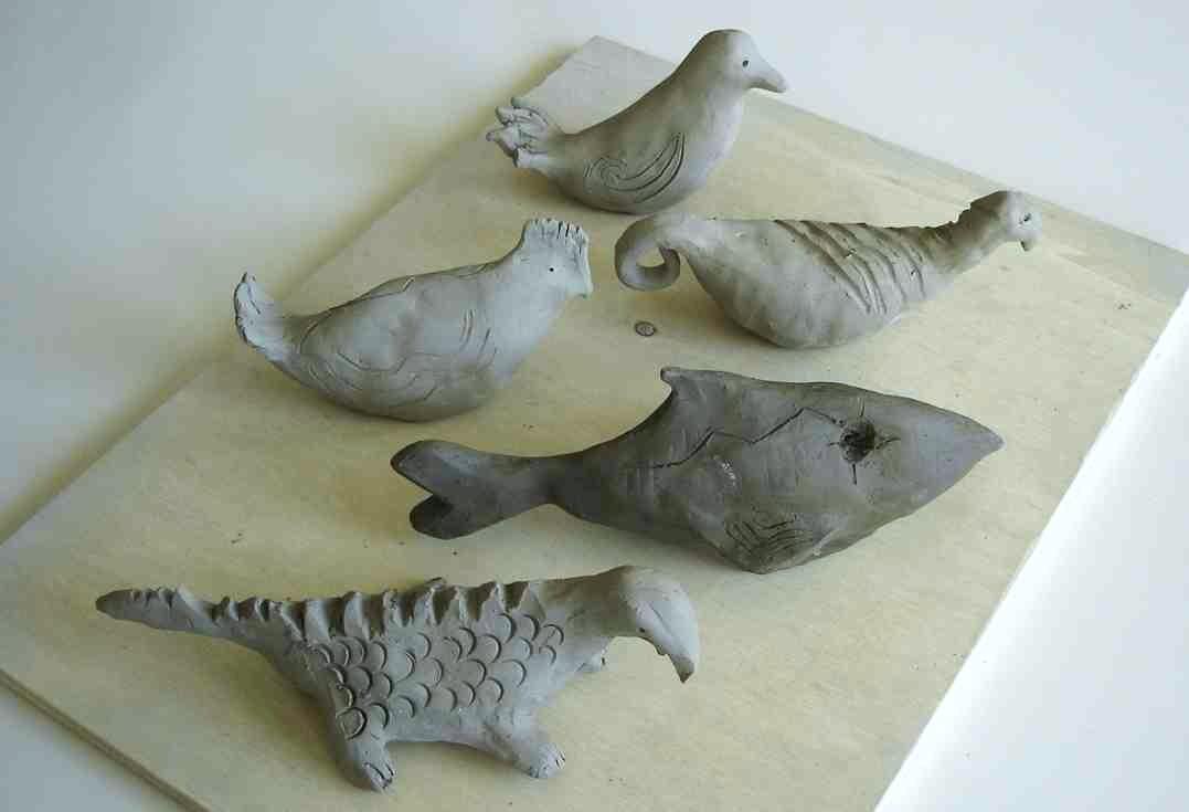modellare gli animali in argilla